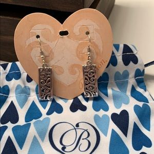 Brighton deco lace post drop earrings. NWT